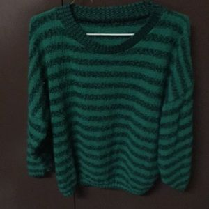 Sweaters - Vintage green and black sweater & skirt set